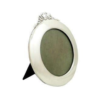 Antique Sterling Silver 'Bow/Ribbon' Photo Frame 1912