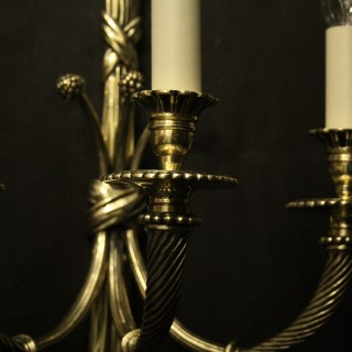French Pair Of Rope Antique Wall Lights