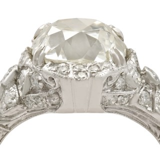 5.39ct Diamond and Platinum Cocktail Ring - Art Deco - Antique Circa 1915