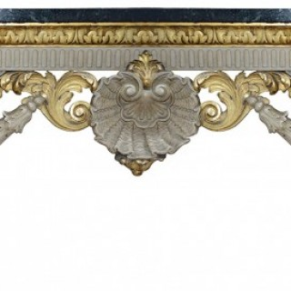 Large 19th Century William Kent style Console table, 258cm (102