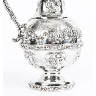 Antique Victorian Silver Plate Claret Jug by Martin Hall C 1880 19th Century
