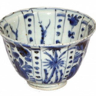 Ming Blue and White Kraak 'Crow Cup'
