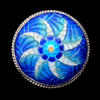An art deco Limoges enamel brooch by Louis Valade (Camille Faure)