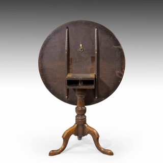 A Very Fine George III Period Mahogany Tilt Table