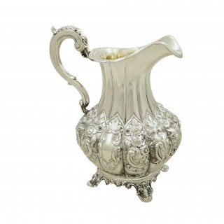 Antique Victorian Sterling Silver Jug 1846