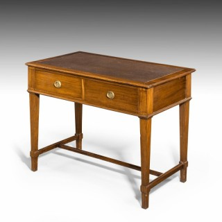 An Edwardian Period Two Drawer Mahogany Writing Table