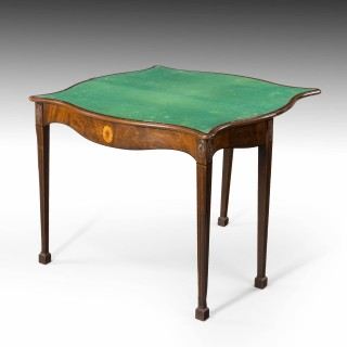 A George III Period Mahogany Serpentine Card Table
