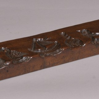 Antique Treen 19th Century Mahogany Biscuit Mould
