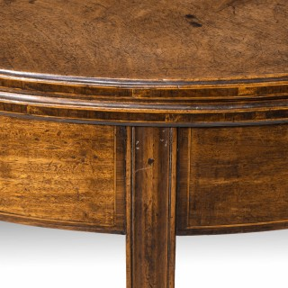 An Attractive George III Period Mahogany Demilune Tea Table