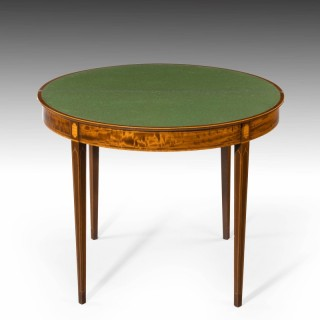 An Exceptionally Smart Late 19th Century Mahogany Card Table.