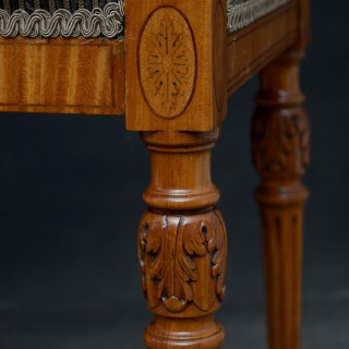 Exceptional Edwardian Satinwood Duet Stool