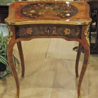 19th Century French Kingwood Marquetry And Ormolu Table