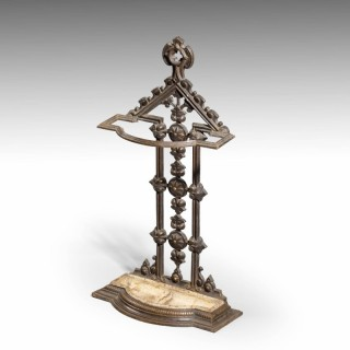 An Attractive Late 19th Century Cast Iron Stick Stand