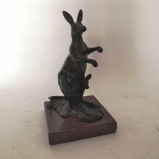 Early 20th Century French Bronze Kangaroo by Henri Bouchard