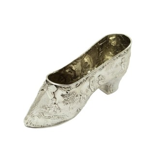 Antique Victorian Sterling Silver Shoe 1895