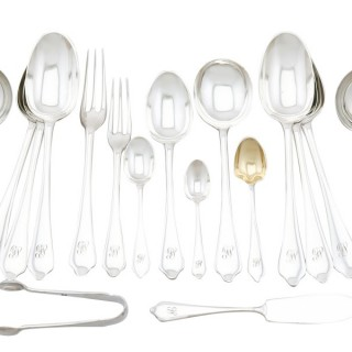 Sterling Silver Canteen of Cutlery for Twelve Persons - Vintage George VI