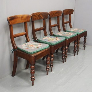 Set of 4 Scottish Stained Beech Country Chairs
