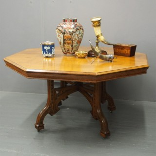 Victorian Gothic Style Oak Centre Table