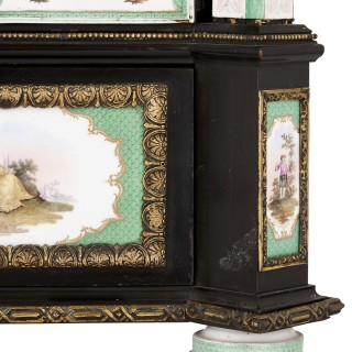Ormolu and KPM porcelain mounted display cabinet