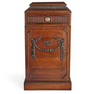 Pair of Georgian style mahogany cabinet stands