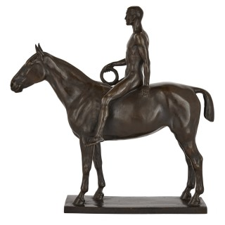 Bronze equestrian rider by Heinrich Splieth