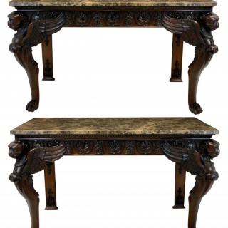 A PAIR OF LARGE CLASSICAL REVIVAL CONSOLES