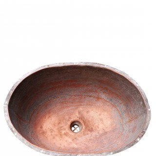 Antique English Under-mounted Copper Sink / Basin