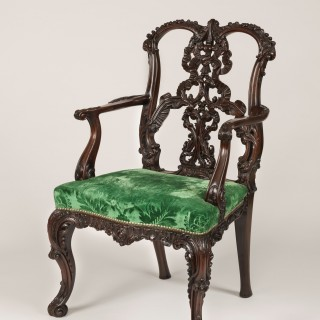 A Fine Set of Twelve Dining Chairs in the Manner of Thomas Chippendale