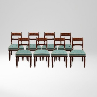A Fine Set of Eight Georgian Mahogany Dining Chairs