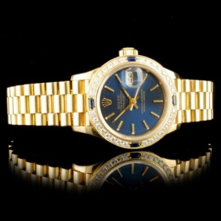 Rolex DateJust 18k YG Diamond 26MM Watch