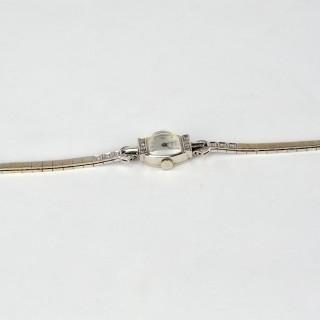 Tiffany 14k White Gold Ladies Wristwatch