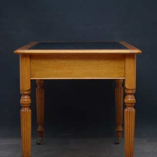 Edwardian Oak Writing Table