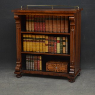 William IV Rosewood Open Bookcase