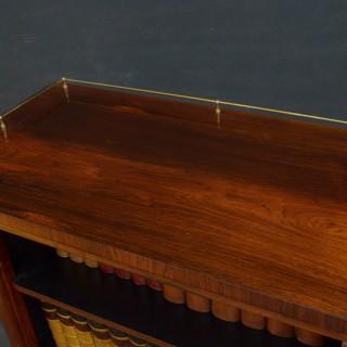 William IV Rosewood Open Bookcase