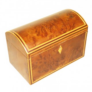 English Late 18th Century Yewood Tea Caddy
