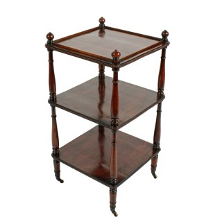 Regency Mahogany Three Tier Étagère