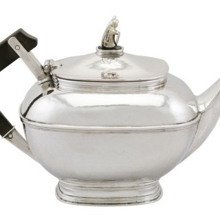 Sterling Silver Teapot by Omar Ramsden - Antique George V (1925)