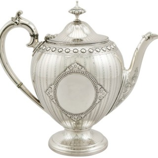 Sterling Silver Teapot by Barnard & Sons Ltd - Antique Victorian