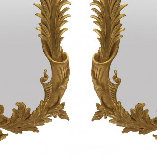 A PAIR OF ENGLISH GEORGE III STYLE GILT WOOD MIRRORS