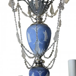 A WEDGWOOD CHANDELIER