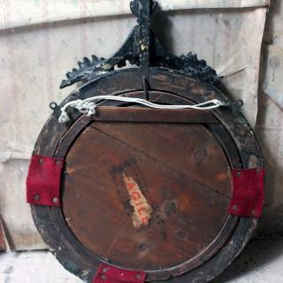 A Regency Giltwood & Gesso Convex Mirror c.1815-25