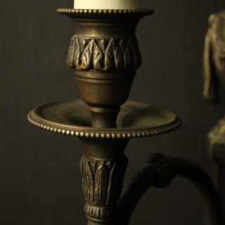 English Pair Of Ram Headed Wall Sconces