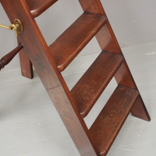 Pair of Victorian Mahogany Folding Library Steps