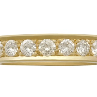 Vintage 1980s 2.22ct Diamond and 18ct Yellow Gold Full Eternity Ring