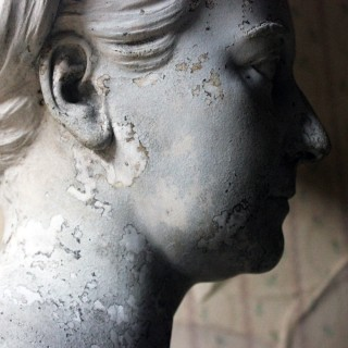 A Mid-Victorian Plaster Bust of Queen Victoria by David Watson Stevenson 1871