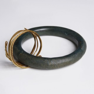 Bronze Age Bangle with Gold Ring