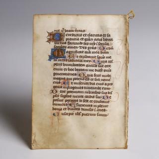 Psalter Manuscript Leaf
