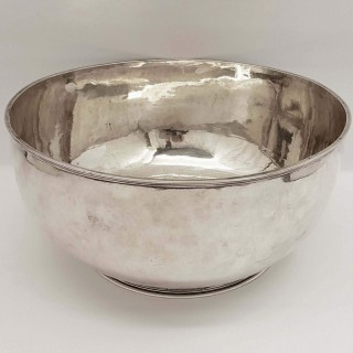 Queen Anne Silver Punch Bowl
