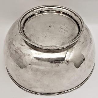 Queen Anne Silver Punch Bowl