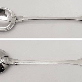 Antique Silver Basting Spoon